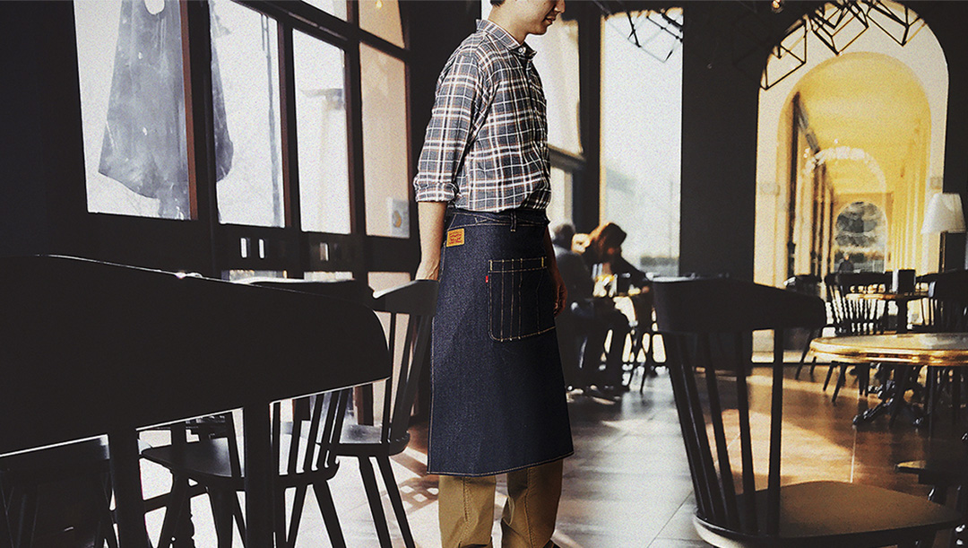 DENIM WAIST APRON <デニムウエストエプロン>